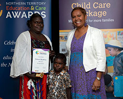 Emerging Educator Finalist with Minister - Sylvette Maralwuy