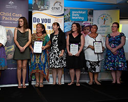 Innovative Practice Finalists with Minister