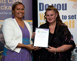 Outstanding Leader Finalist with Minister - Melanie Gifkins
