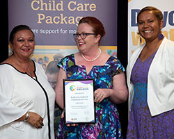 Community Engagement Finalist with Minister - KICS