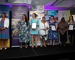 Community Engagement Finalists with Minister