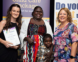 Emerging Education Winners with Sponsor - Lauren and Sylvette