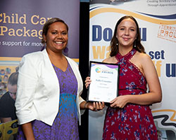 Emerging Educator Finalist with Minister - Kelly Cummins
