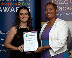 Emerging Educator Finalist with Minister - Lauren Winfield