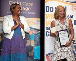 Outstanding Educator Winner with Minister - Trish Whitaker